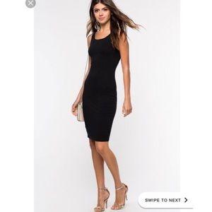 Zara Trafaluc   Black Body-con Sleeveless Dress